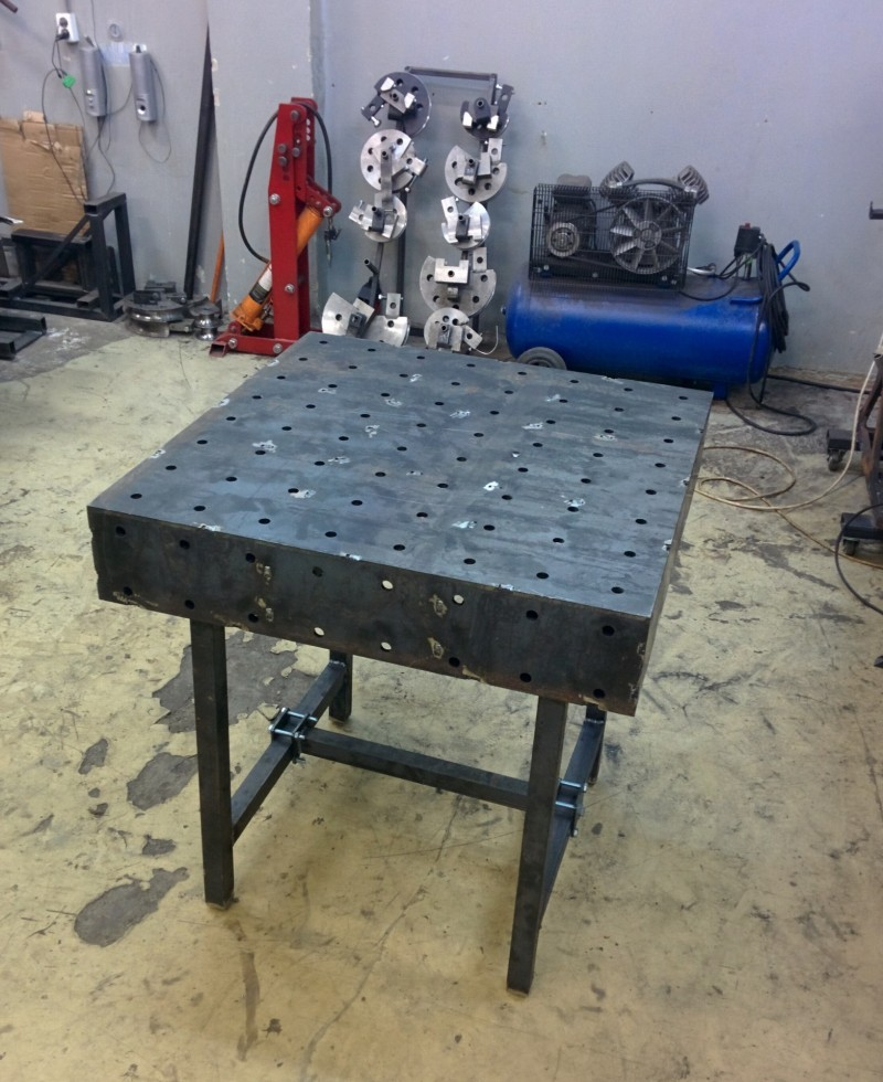 Сварочный стол своими руками фото чертежи на 5 тонн 7